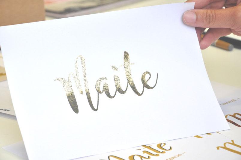 Efectos y acabados especiales para lettering