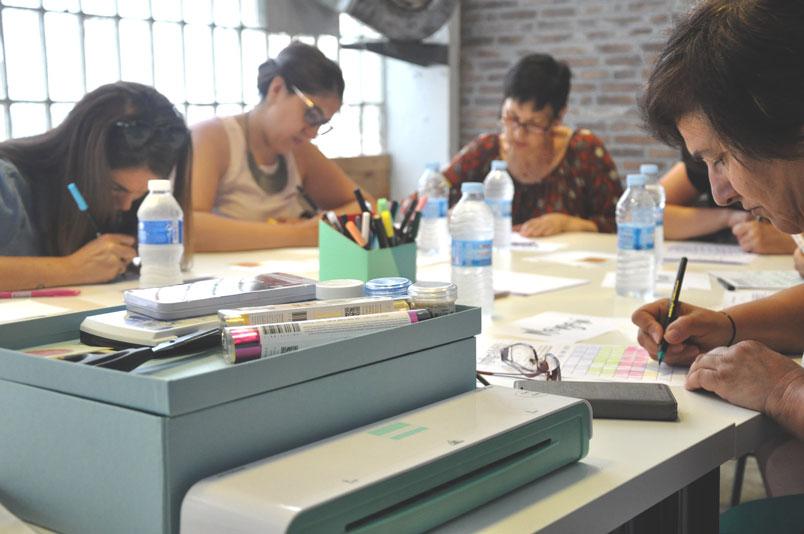 Taller de lettering en Galerna Studio en Egia Donostia