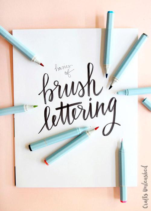 Brush lettering y caligrafia creativa