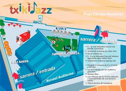 Mapa de actividades para la 5 edición del Txikijazz