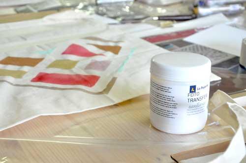 Gel de transferencia de pinturas la pajarita