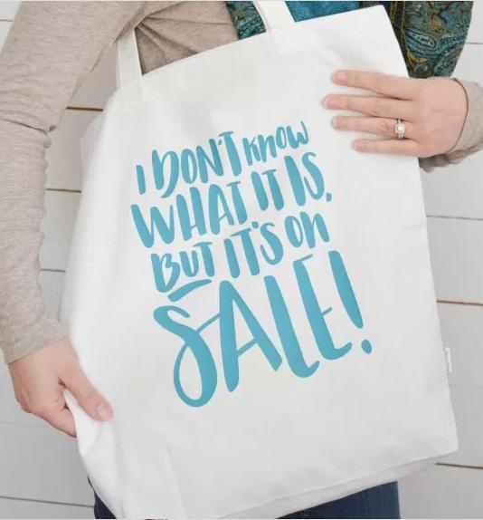 bolsa de playa con lettering