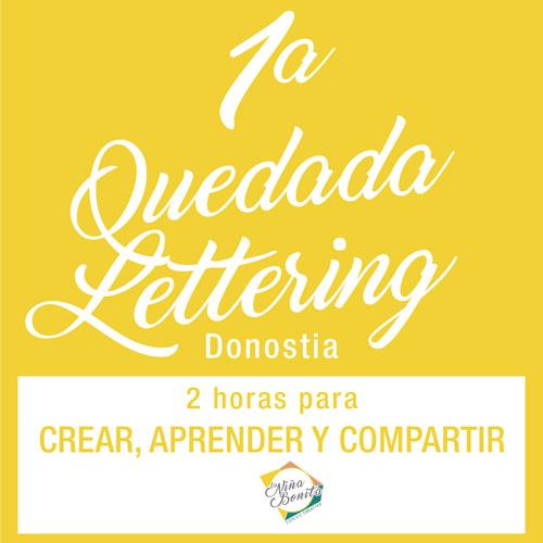 Quedada lettering y caligrafía Donostia