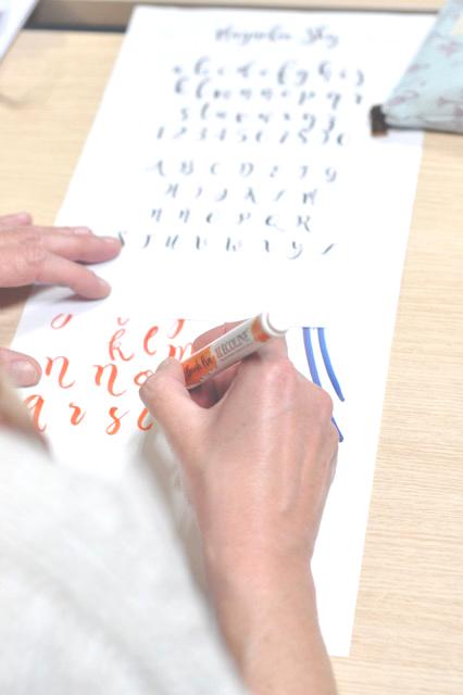 Taller de iniciación al lettering con brushpen