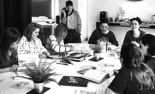 Quedada taller de lettering en Galerna Studio. Coworking de Donostia