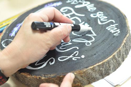 Lettering sobre madera para bodas