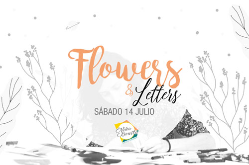 Flores y letras bonitas