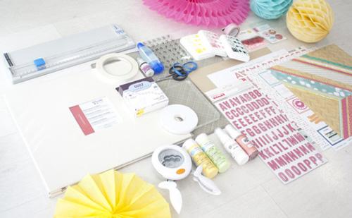 materiales para empezar scrapbooking