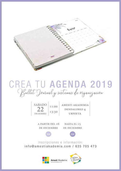 Agenda personalizada 2019, urnieta, donostia