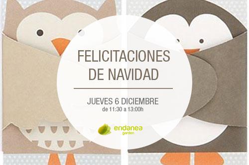 Christmas Navideños. Taller infantil en Endanea. Hondarribia