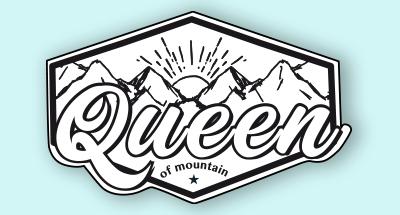 Logotipo en blanco y negro de marca de montaña